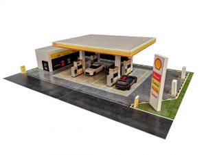 Shell Petrol Station Diorama