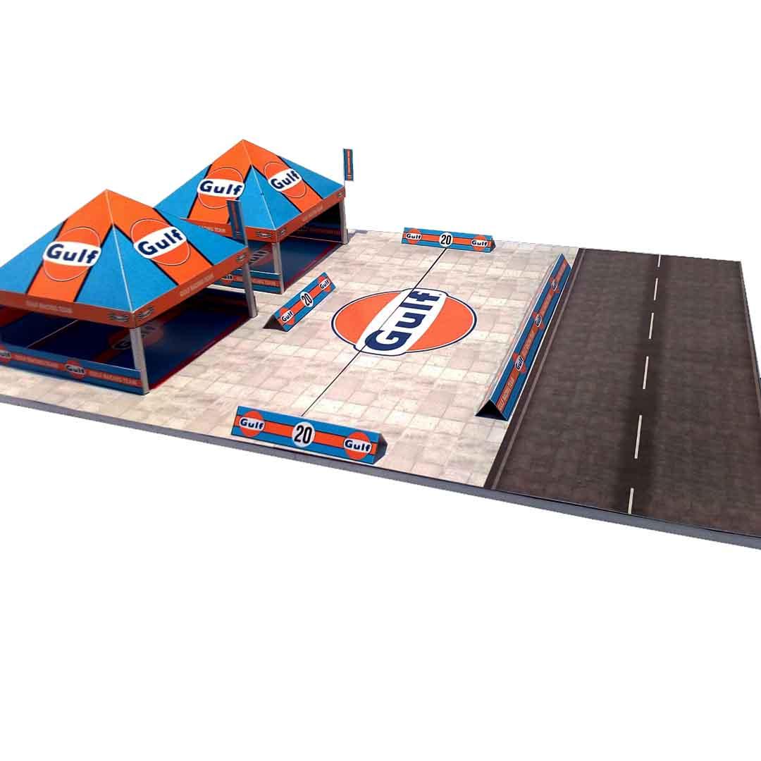 Gulf Racing Canopy 1-64 Diorama Building