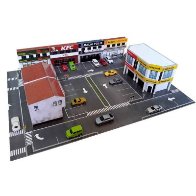 1:64 diorama town building kit for hot wheels diecast cars