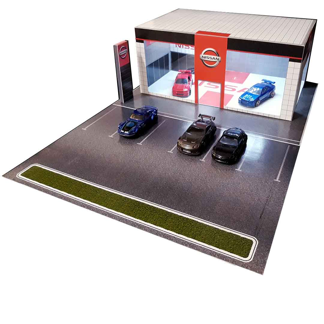 Nissan Dealership 1:64 scale diorama building kit