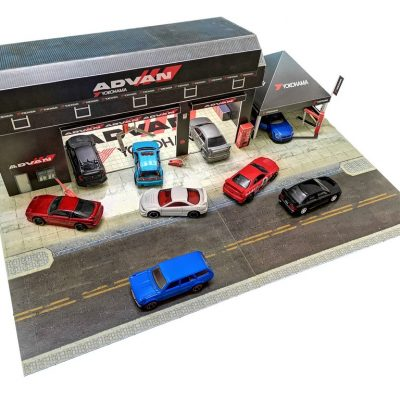 advan garage hotwheels diorama