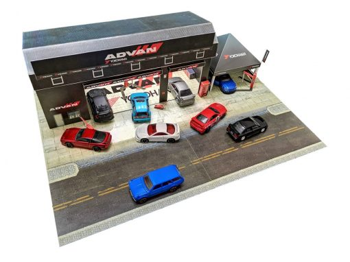 advan garage hotwheels diorama