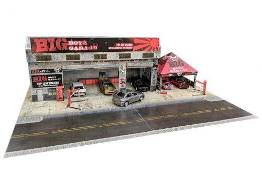 Big Boyz Hot wheels diorama garage in 1:64 scale