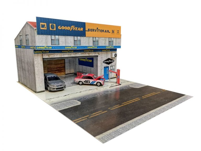 Goodyeaer service centre diorama building