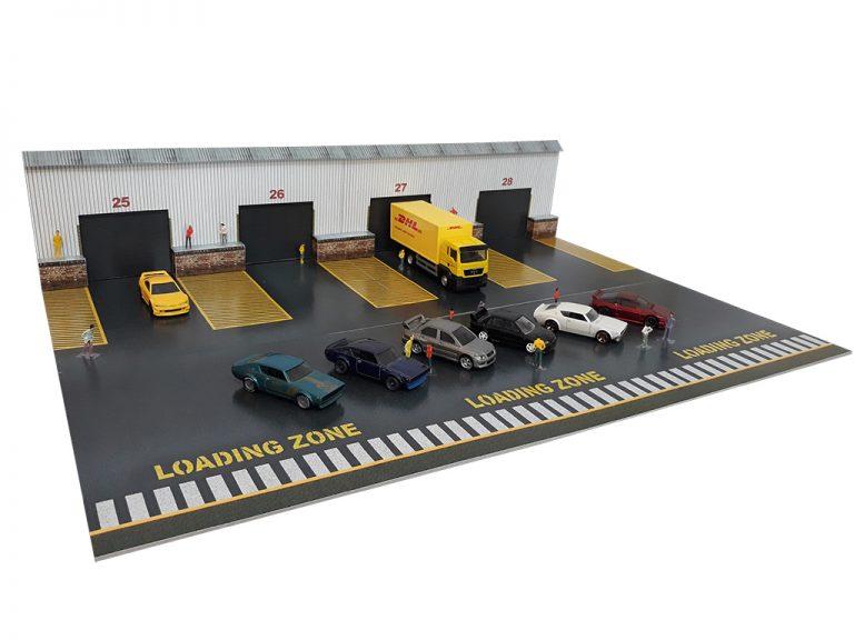loading bay diorama building for hotwheels