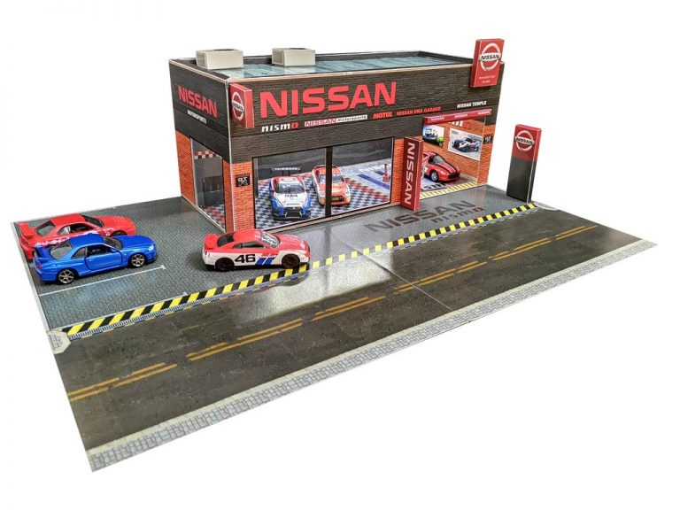 Nissan Garage Diorama for Hotwheels