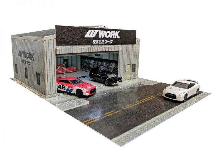 Work Garage Diorama Building in 1:64 scale