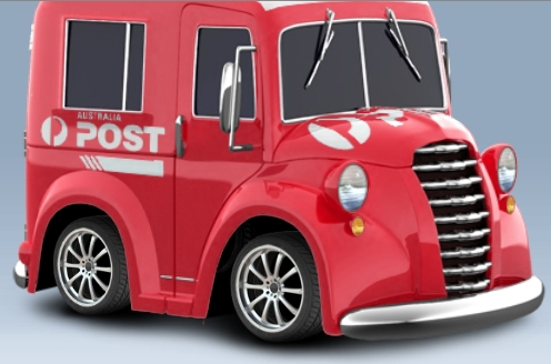 Courier and australia post delivery services decals and model car transfers
