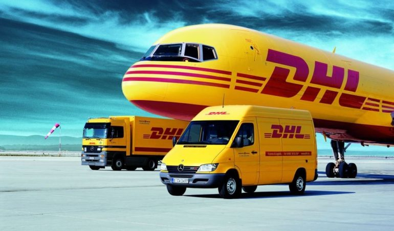 DHL Courier Decals and Transfers for Model Cars