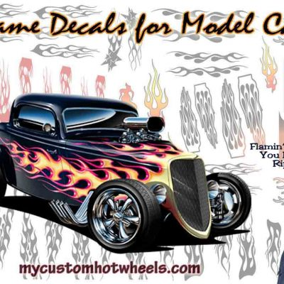 FLAME DECALS - racing transfers for all scale model cars