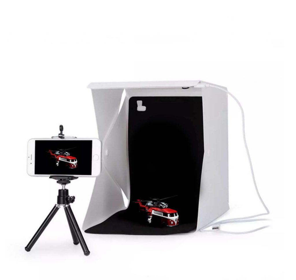 Portable Photo Studio LED Lightbox for model car photography