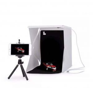 Portable Photo Studio LED Lightbox for model car photography