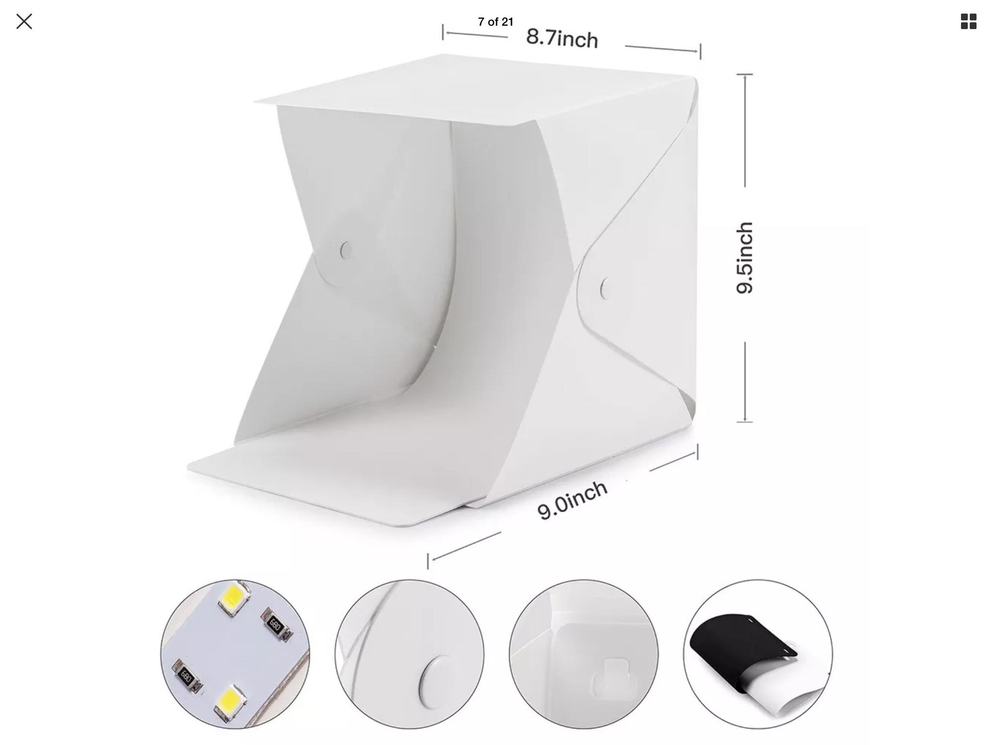 Portable Photo Studio Lightbox for model car photography