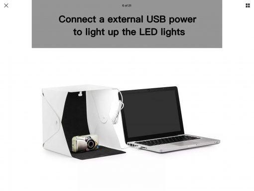 Portable Photo Studio Lightbox for model car photography