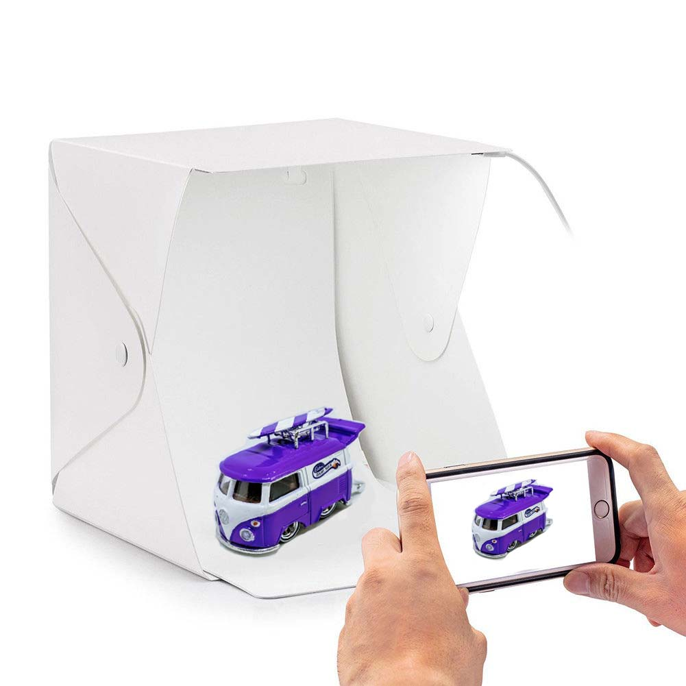 Portable Photography Booth with LED Light for scale model diecast cars