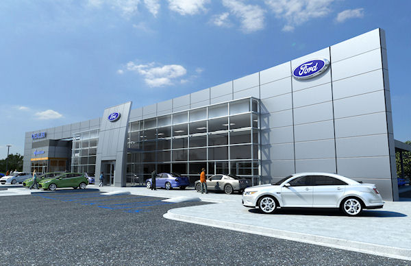 Ford Dealership - showroom diorama for Hot Wheels and Diecast Cars