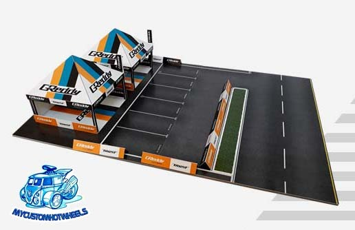 1/64 scale diorama racing canopy for your GReddy Hot Wheels