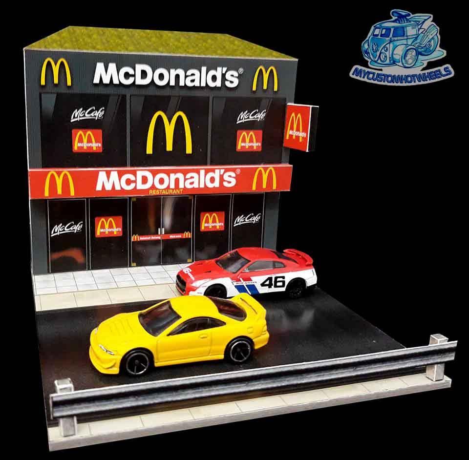 McDonalds Restaurant Diorama Building