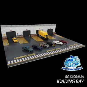 Loading Dock Diorama Kit for 1:64 scale Hot Wheels diecast cars
