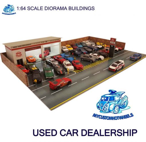 Used Car Dealership Diorama Building for 1:64 scale model cars
