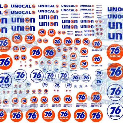 Union 76 racing decals for model cars