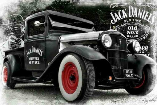Jack Daniels custom model car decals