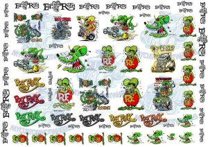 RATFINK decals for 1:24 scale model cars