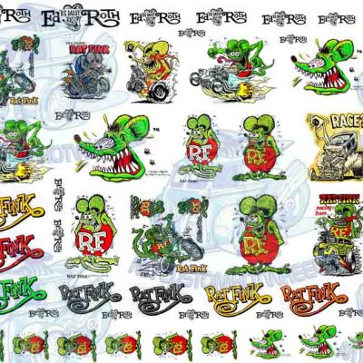 ratfink by Ed Roth decals for model cars and Hot Wheels
