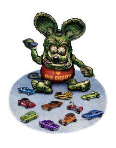 Rat Fink Decals for Model Cars
