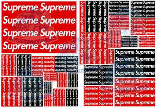 Supreme decals for Hot Wheels and 1:64 scale diecast cars