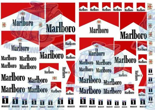 Marlboro decals for 1:32 scale model cars