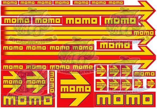 momo decals for 1:24 scale model cars