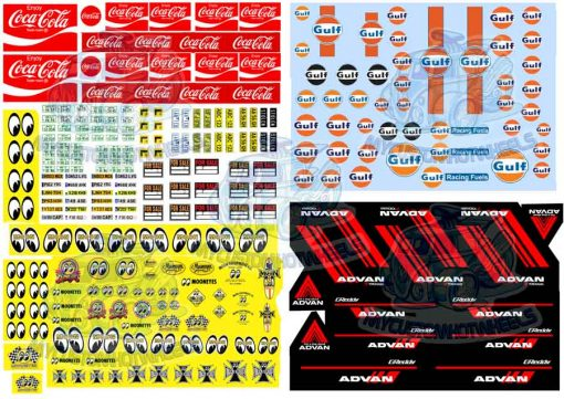 best selling decals mixed pack B