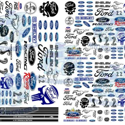 Ford Racing Decals for 1:32 scale model cars
