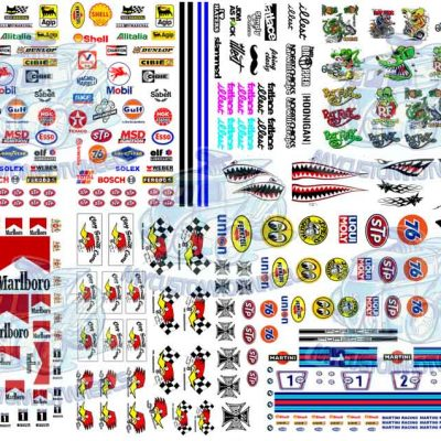 best selling decals mixed pack