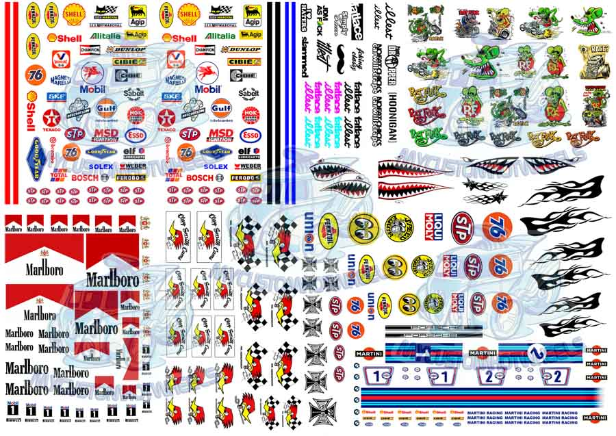 MATCHBOX Clear HD#2 WATER-SLIDE DECALS FOR HOT WHEELS 1:64 MADE IN USA!!!