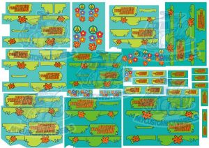 scooby doo mystery machine decals for hot wheels