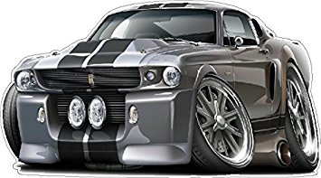 Ford Mustang model car decals