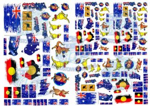 Australia decals for 1:32 scale model cars