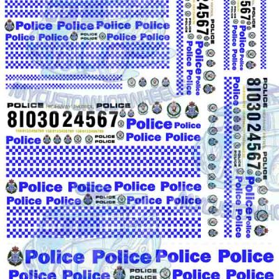 aussie police decals for Hot Wheels