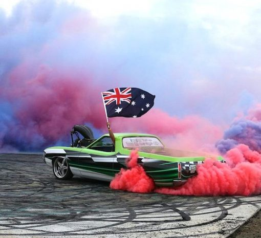 Aussie flag decals for model cars