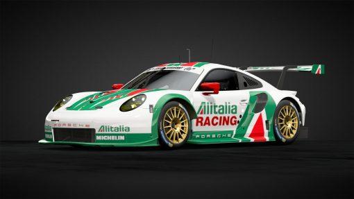 alitalia racing livery on Porsche