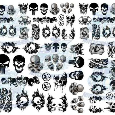 skull decals for 1:32 scale model cars