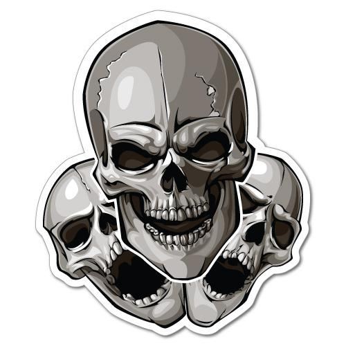 skull decals for model cars