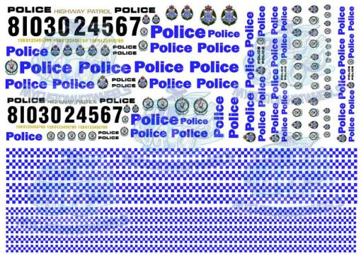 australian police decals for model cars