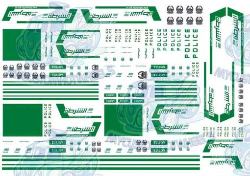 dubai police decals for Hot Wheels