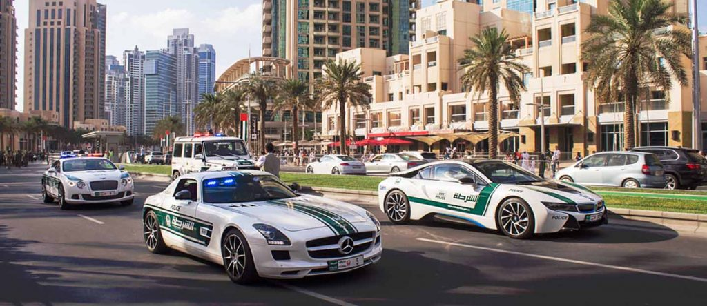 Dubai police decals for model cars