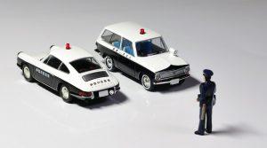 japanese police car - scale model