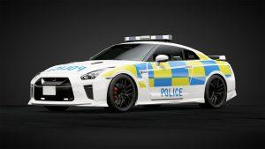 UK Police livery on a NISSAN GTR R35