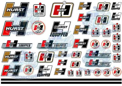 Hurst equipped decals for 1:18 scale model cars